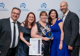 Telstra and LIW with their award