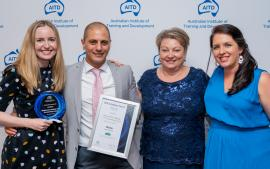 Blackmores Institute and The Learning Factor with their award