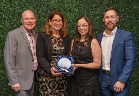 Queensland Rail and easyA with their award